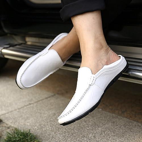 Gaorui-Piel Zapatos sin Cierre para Hombre Mocasines de Moda de Primevera y Verano: Amazon.es: Zapatos y complementos