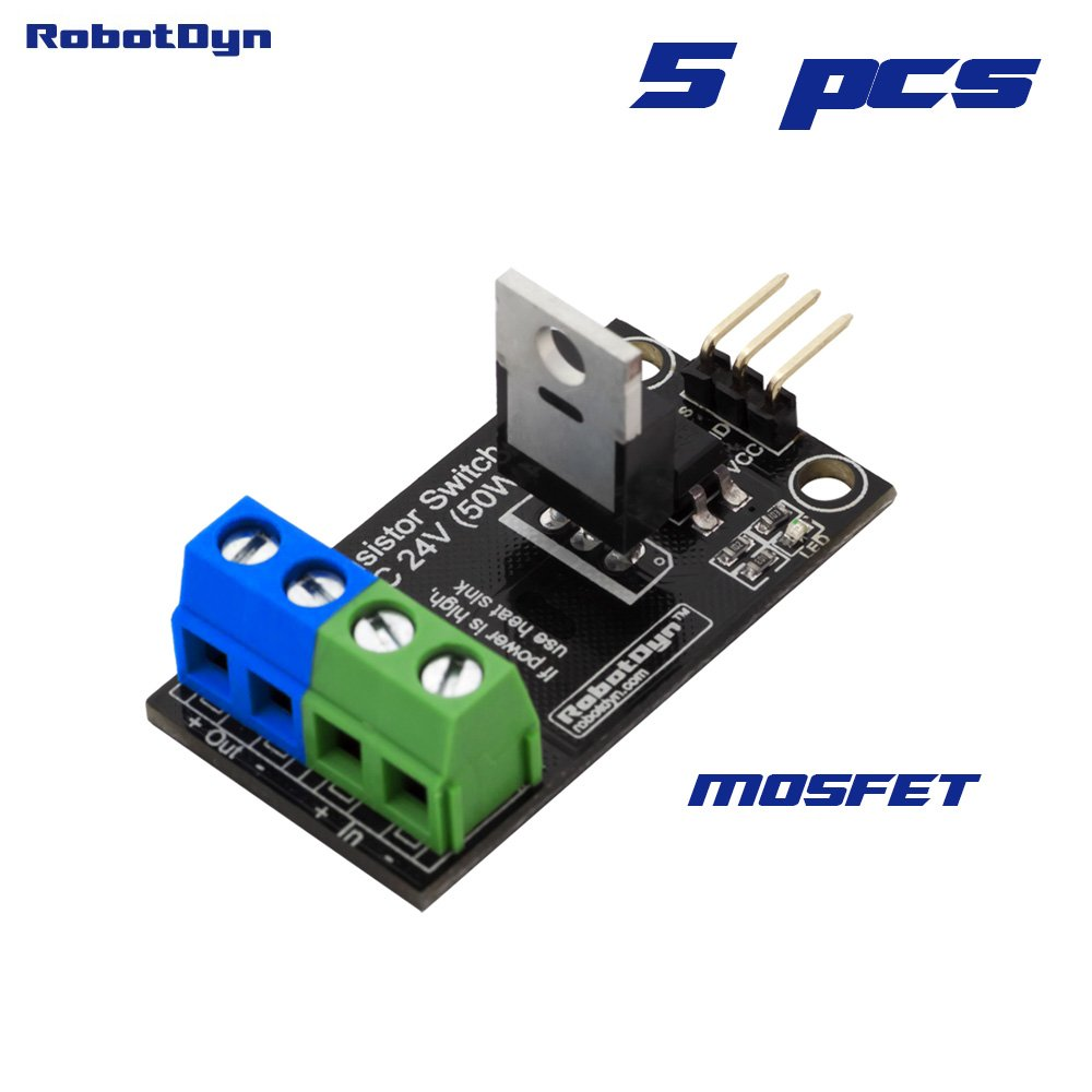 Transistor Mosfet Dc Switch Driver Module 1 Channel 5v Diagram Cell Load Circuit N Mos Fet Arduino Logic 24v 30a With Optoisolator For Control Power From Stm32