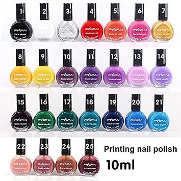 Amazon Coosa 12pcs Professional Stamping Nail Art Polish 10ml