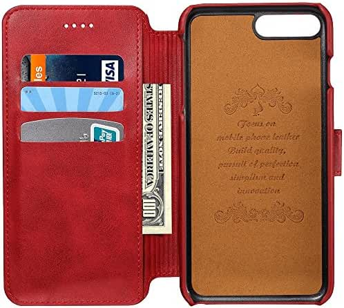 Leather Wallet Phone Case with ID Credit Card Slot Holder Flip Cover Stand for iPhone 6/ 6S/ Plus/ 7/ 7 Plus