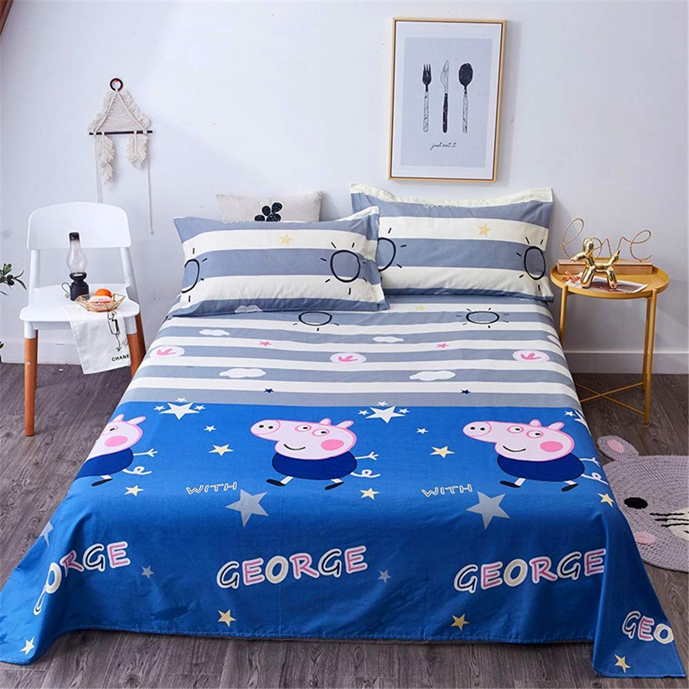 Cotton Single Piece Bedclothes Twill Printing Single Double Cotton Four Seasons Simple Sheets Cotton Factory Wholesale Direct Sales Pig George 250270cm by iangbaoyo