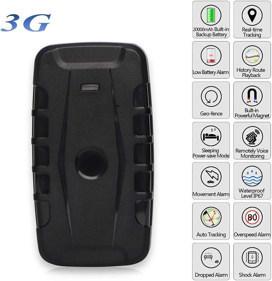 OMZBM Actualizado 3G Mini Portátil GPS Tracker Mascotas Niños Ancianos Vehículo Multifunctiontracking Dispositivo 20000Mah 240 Días En Espera Imanes Localizador Libre Aplicación