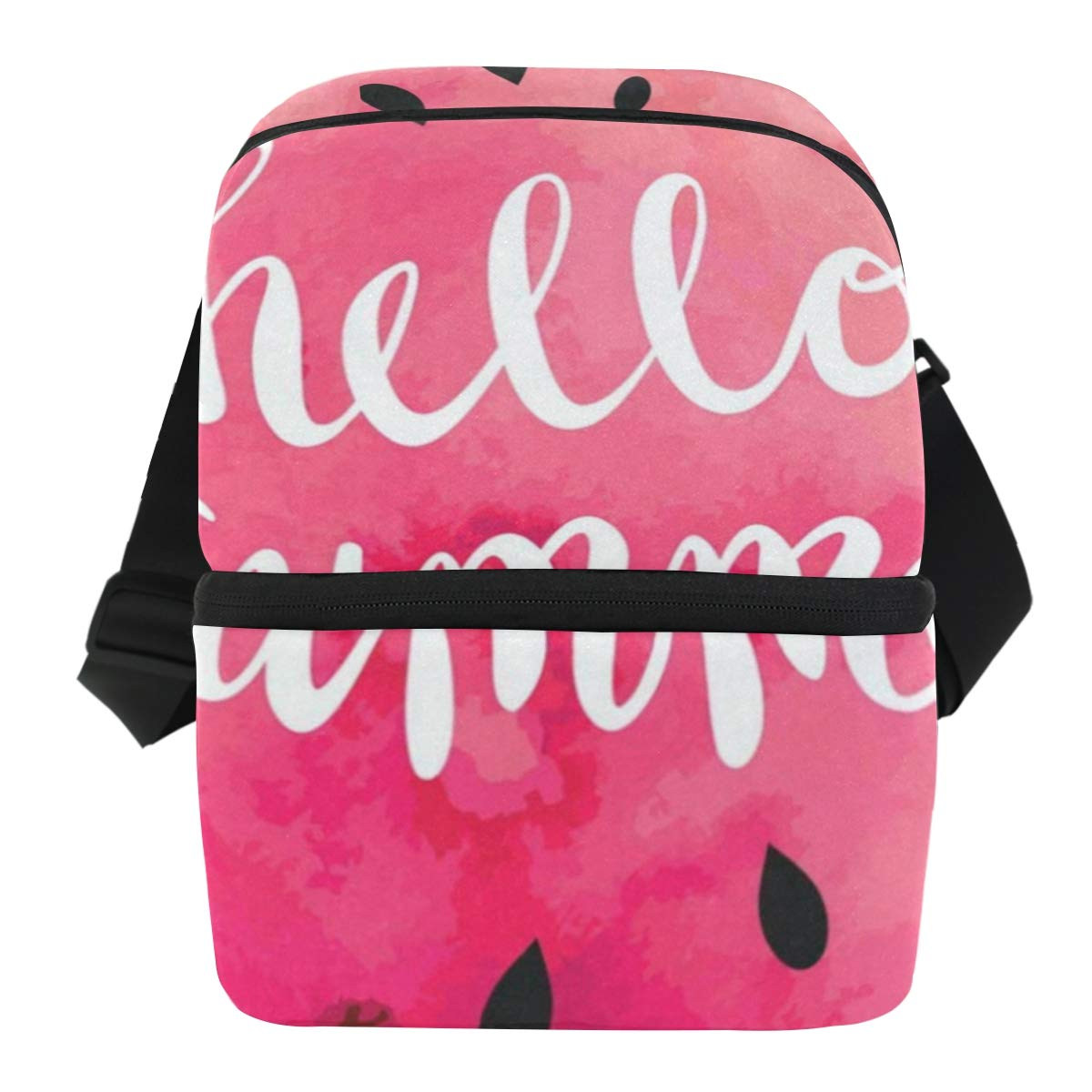 Lunch Bag Hello Summer Whatermelon Insulated Cooler Bag Mens Leakproof Food Storage Zipper Tote Bags for Party