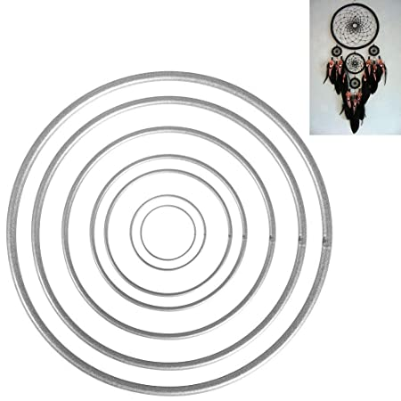 SinceY 10 Anelli in Metallo Ferro per acchiappasogni macram/è acchiappasogni e Altri progetti Fai da Te