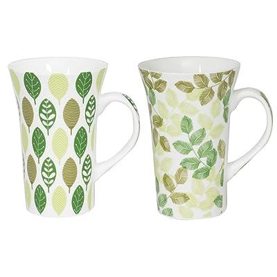 Coffret de 2 mugs XXL 55 cl JAIPUR VERT assortis