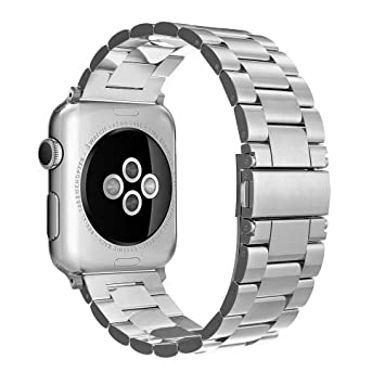 Simpeak Correa Compatible para Apple Watch Series 3 / Series 4 / Series 2 / Series 1 Correa 42mm de Acero Inoxidable Reemplazo de Banda de la Mu?ca ...