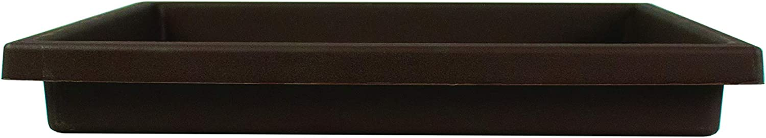 Akro Mils SRO15500E21 Accent Tray for the 15.5 Inch Accent Planter, Chocolate, 14-Inch Tray : Plant Tray Square : Garden & Outdoor