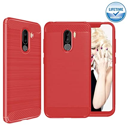 Amazon.com: Xiaomi Pocophone F1 Funda, [Fibra de carbono ...