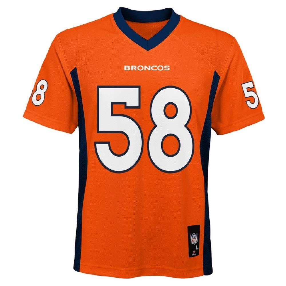 Von Miller Denver Broncos NFL Kids Orange Home Mid-Tier Jersey (Kids 5/6)