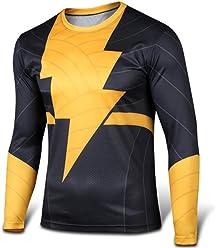956786b5e98 Carin Men s Shazam The Flash Black Adam Long Sleeve T-Shirt