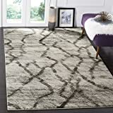 Safavieh Retro Collection RET2144-7990 Modern Abstract Light Grey and Black Area Rug (6′ x 9′)