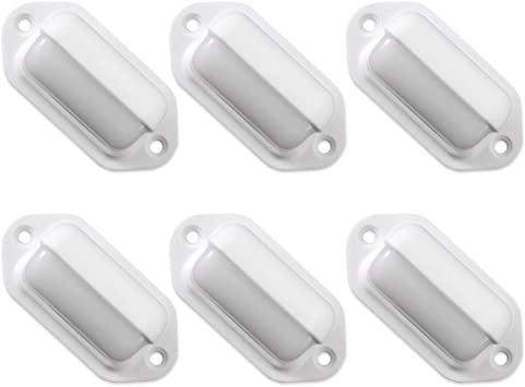 Amazon Com Dream Lighting 12 Volt Surface Mount Led Step Lights Warm White Deck Lights For Boat Marine Rv Camper Motor Home Pack Of 6 Automotive
