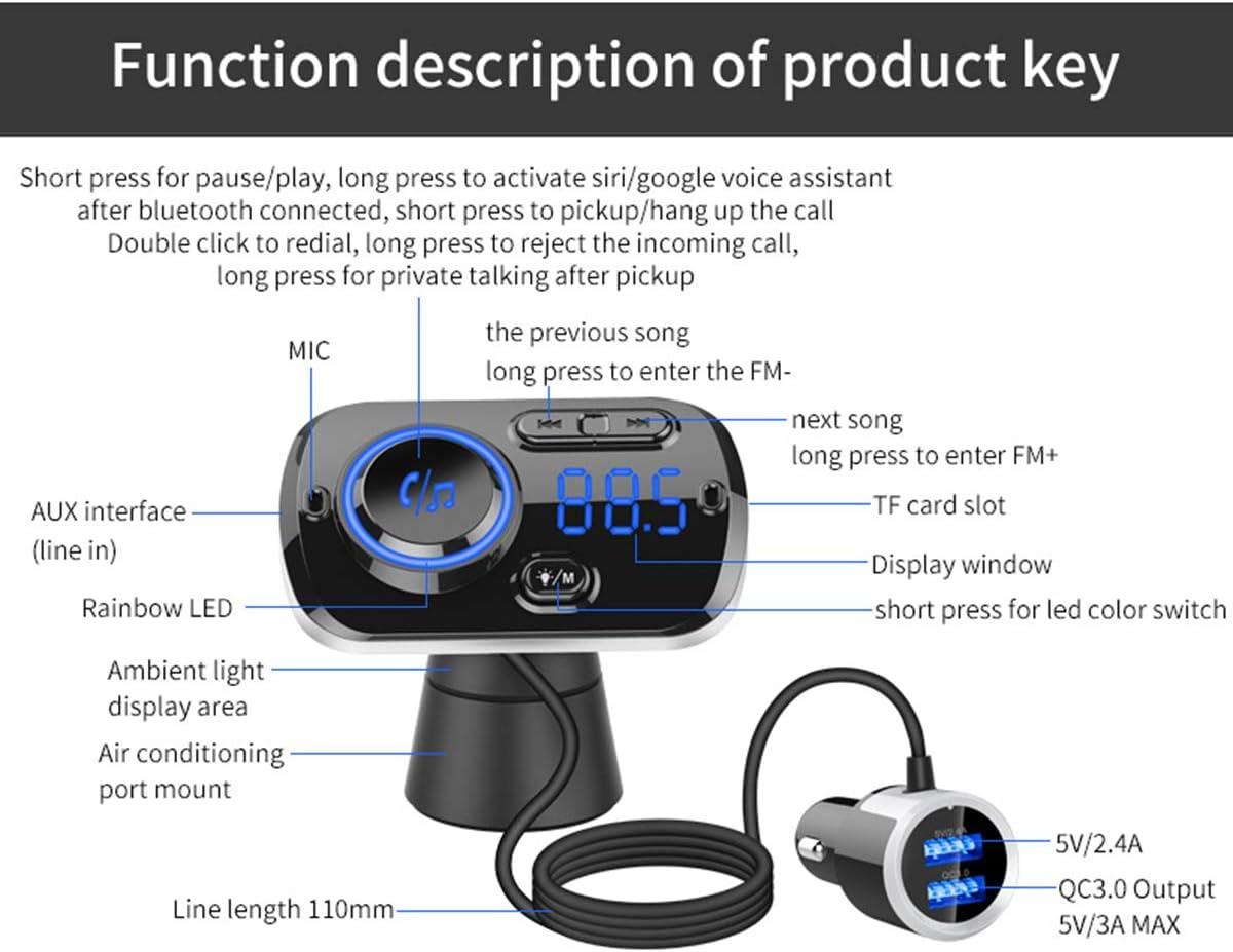 transmetteur FM Bluetooth pour Voiture XingYue Direct Lecteur MP3 sans Fil /à Charge Rapide USB 3.0