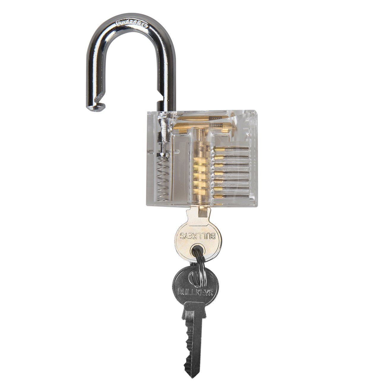 Ambienceo Professional Visible Cutaway of Padlocks Lock for Locksmith Lock Training Practice with 2 keys