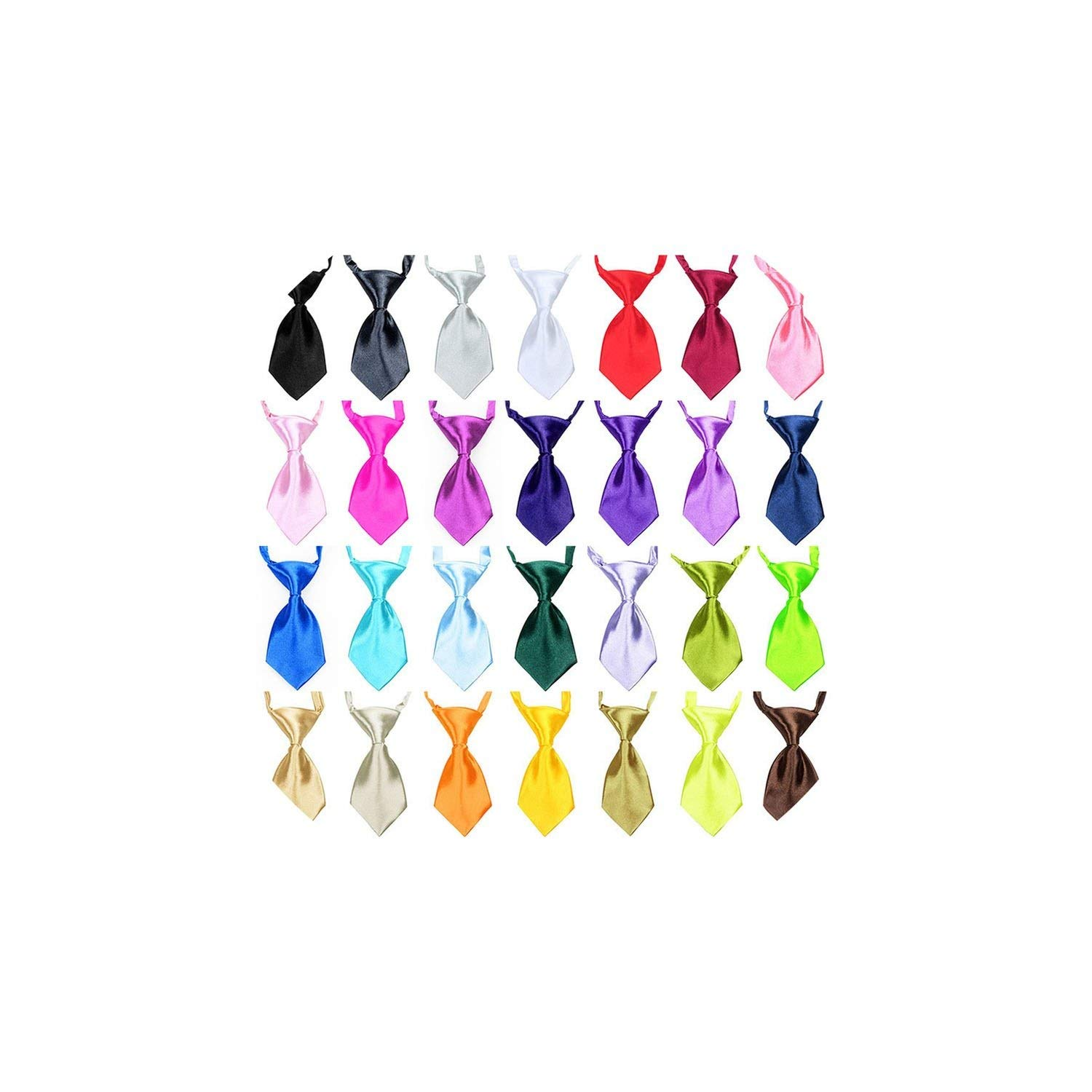 Casual-Life 50/100 pcs/lot Mix Color Pet Cat Dog Bow Tie Puppy Grooming Products Adjustable Dog Accessories Bows for Small Dogs Pet Supplies,Mix Solid Colors,100 pcs