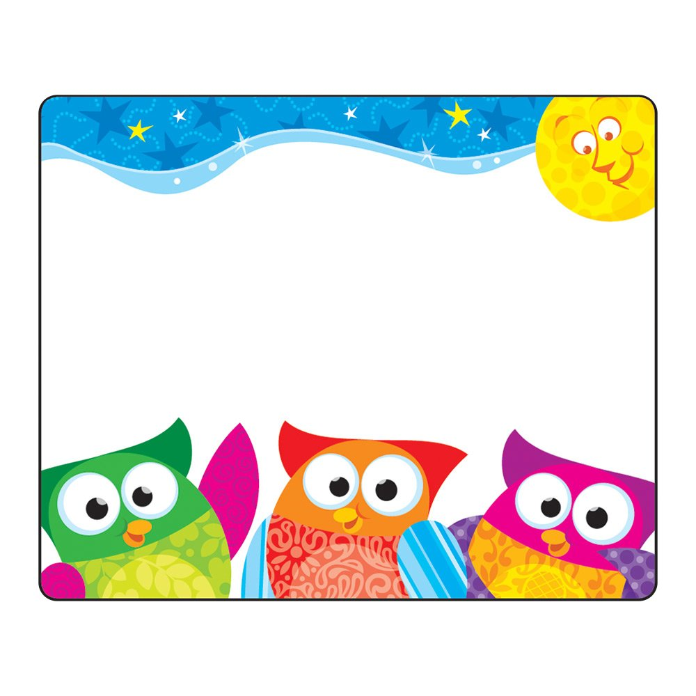 TREND enterprises, Inc. Owl-Stars! Terrific Labels, 36 ct T-68117