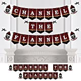 Lumberjack - Channel The Flannel - Party Bunting Banner - Buffalo Plaid Party Decorations - Channel The Flannel