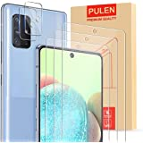 [5 in 1] PULEN for Samsung Galaxy A71 5G Screen Protector (3-Pack) with 2 Pack Camera Lens Protector,HD Clear Scratch…