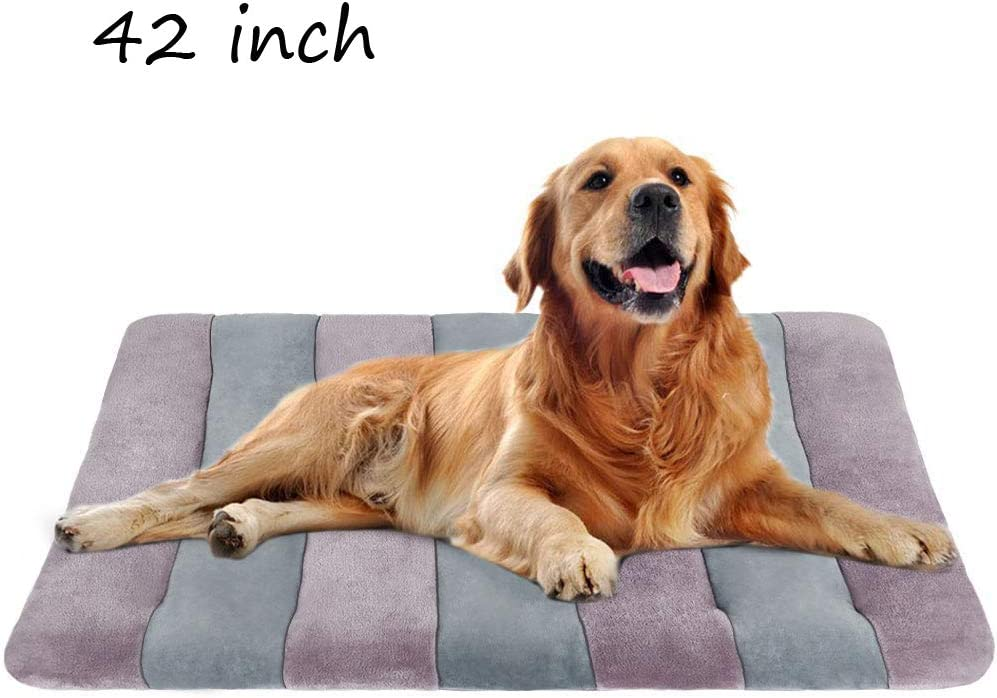Dog Bed Crate Mat Pad 36 42 47 in Pet Beds Washable Anti-Slip Mattress Kennel Pads