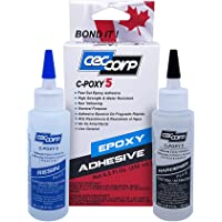 Two Part 5 Minute Epoxy Adhesive C-POXY 5 by CECCORP is a 2X125 mL general purpose structural-unfilled-fast setting…
