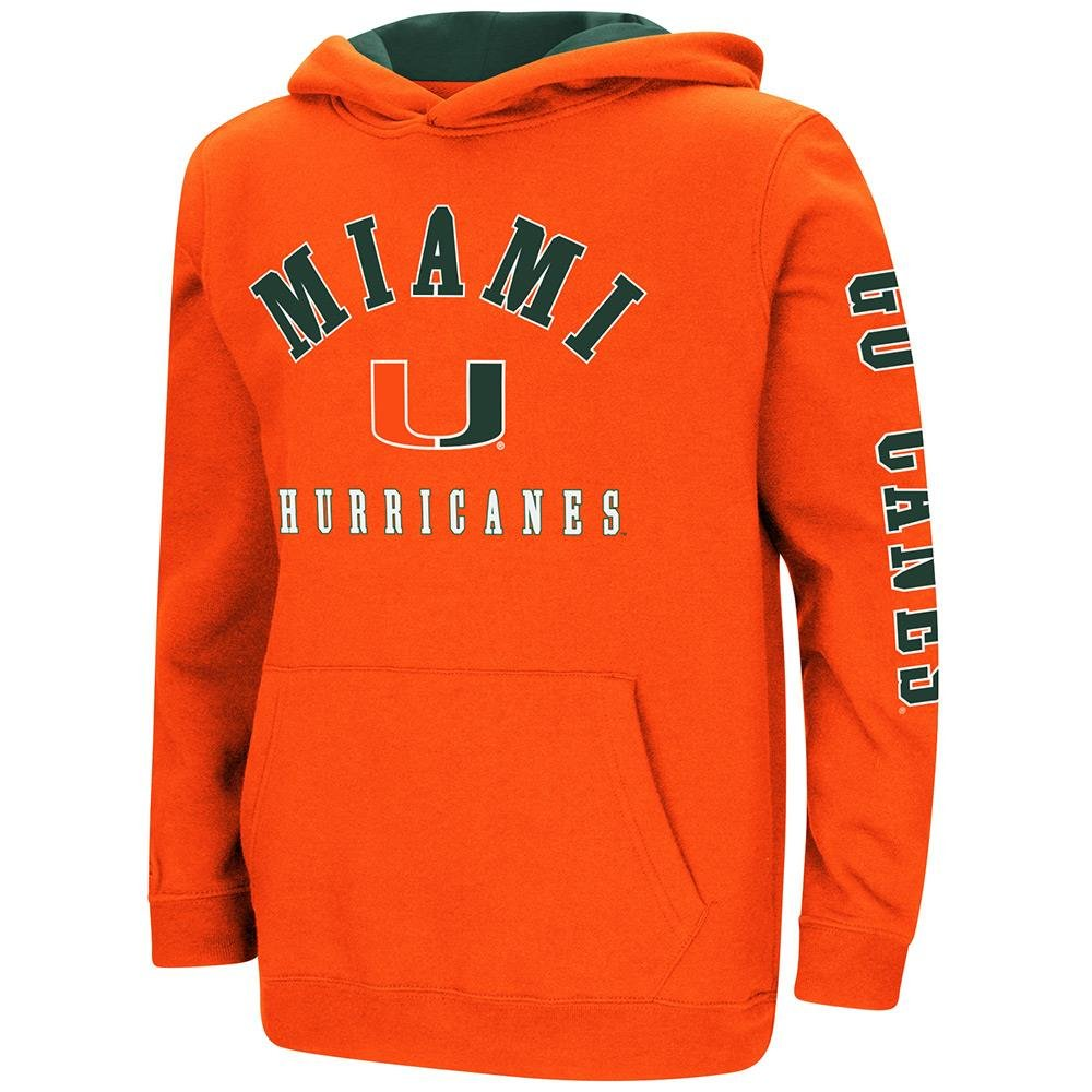 Colosseum Youth Miami Hurricanes Pull-Over Hoodie