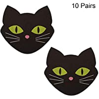 CCbeauty 10 Pairs Nippleless Cover Adhesive Nipple Pasties Disposable Lingerie Pasties Sticker (Cat)