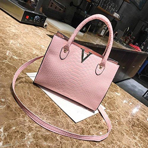 Messenger NXDA PU Handbag Girls Purse Pink and Alligator Pattern Black Phone Bag Women Women Bag Bag For Leather Bag Bag Crossbody Crossbody 547XnwqH