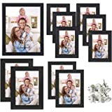 Giftgarden Cornice Nera Portafoto da Parete in Legno per 11 Foto, 2 da 10x15cm, 2 da 13x18cm, 1 da 20x25cm e 6 da 9x13cm