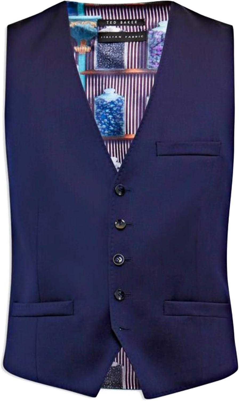 Dark Blue Ted Baker Raisew Debonair Suit Men/'s Waistcoat Vest 46 R