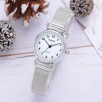 Beisoug Mejor Reloj de Pulsera de Malla de Cuarzo Ocasional para Mujer Reloj de Pulsera analógico: Amazon.es: Hogar