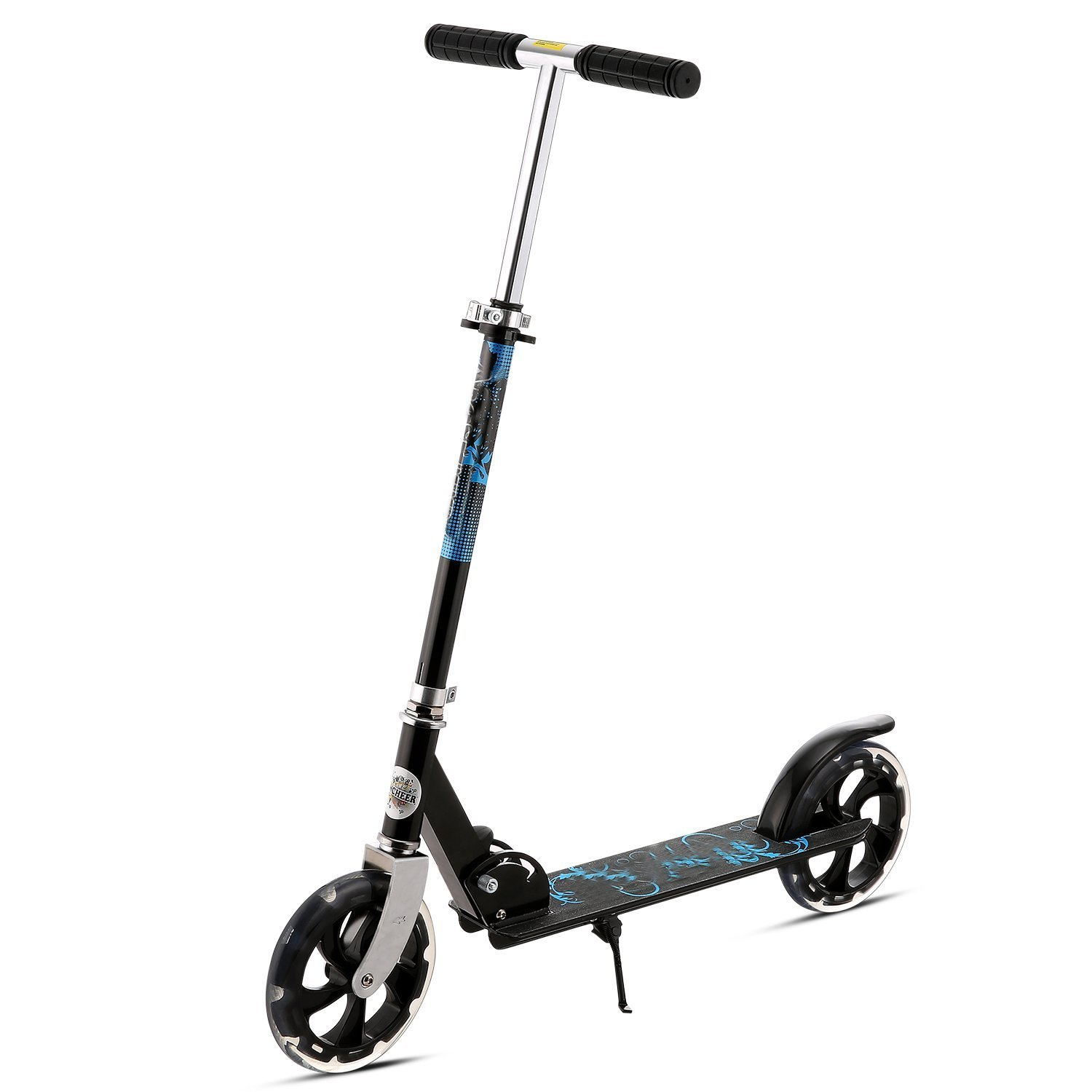 Height Adjustable Folding Kick Scooter-2 Big Wheel Kick Scooter Board for Adult / Teen / Boys / Girls Perfect Unique Present Gift