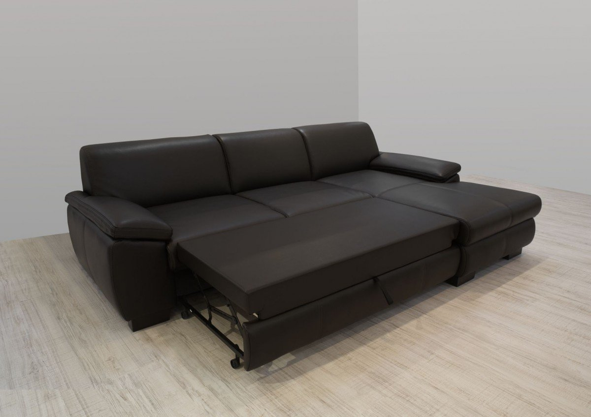 Wundervoll Ecksofa Kunstleder Referenz Von Dreams4home Polsterecke Collo Couch Polstergarnitur Schlaffunktion Dunkelbraun,