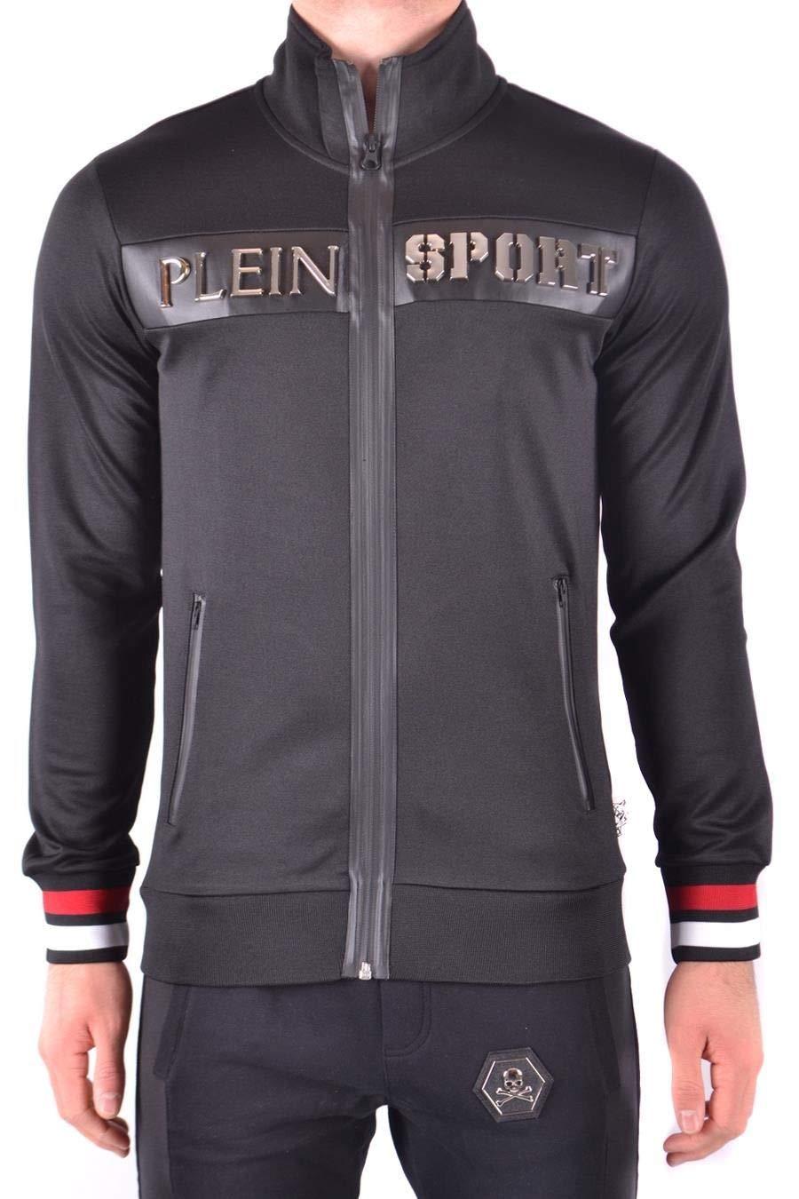 Brand Size L PLEIN SPORT Men's MJB0338SJO001N02 Black Polyester Jacket