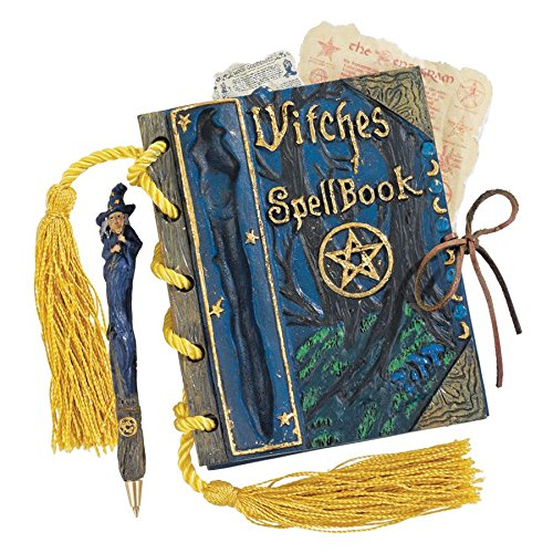 Design Toscano Witches Mystic Spell Book and Pen ()
