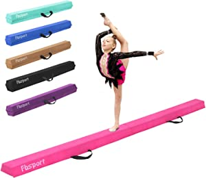 FBSPORT 8ft/9ft/10ft Balance Beam: Folding Floor Gymnastics Equipment for Kids Adults,Non Slip Rubber Base, Gymnastics Beam for Training, Practice, Physical Therapy and Professional Home Training