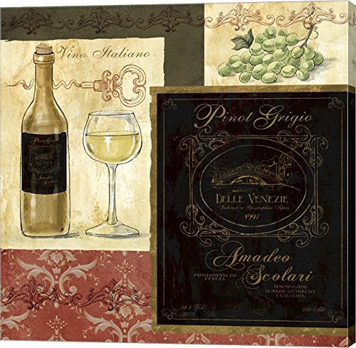 Italian Wine Patch by Fiona Stokes-Gilbert Canvas Art Wall Picture, Gallery Wrap