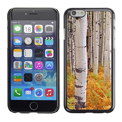 Stuss Case / Hard Protective Case Cover - Ferns Birch Trees Nature Yellow - Apple iPhone 6 Plus 5.5