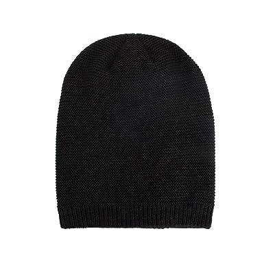 a86f0a4e9b5 Amazon.com  New Knit Beanie for Women   Men Hot Sale DEATU Hats Unisex Warm  Winter Wool Knit Cap(a-Black)  Clothing