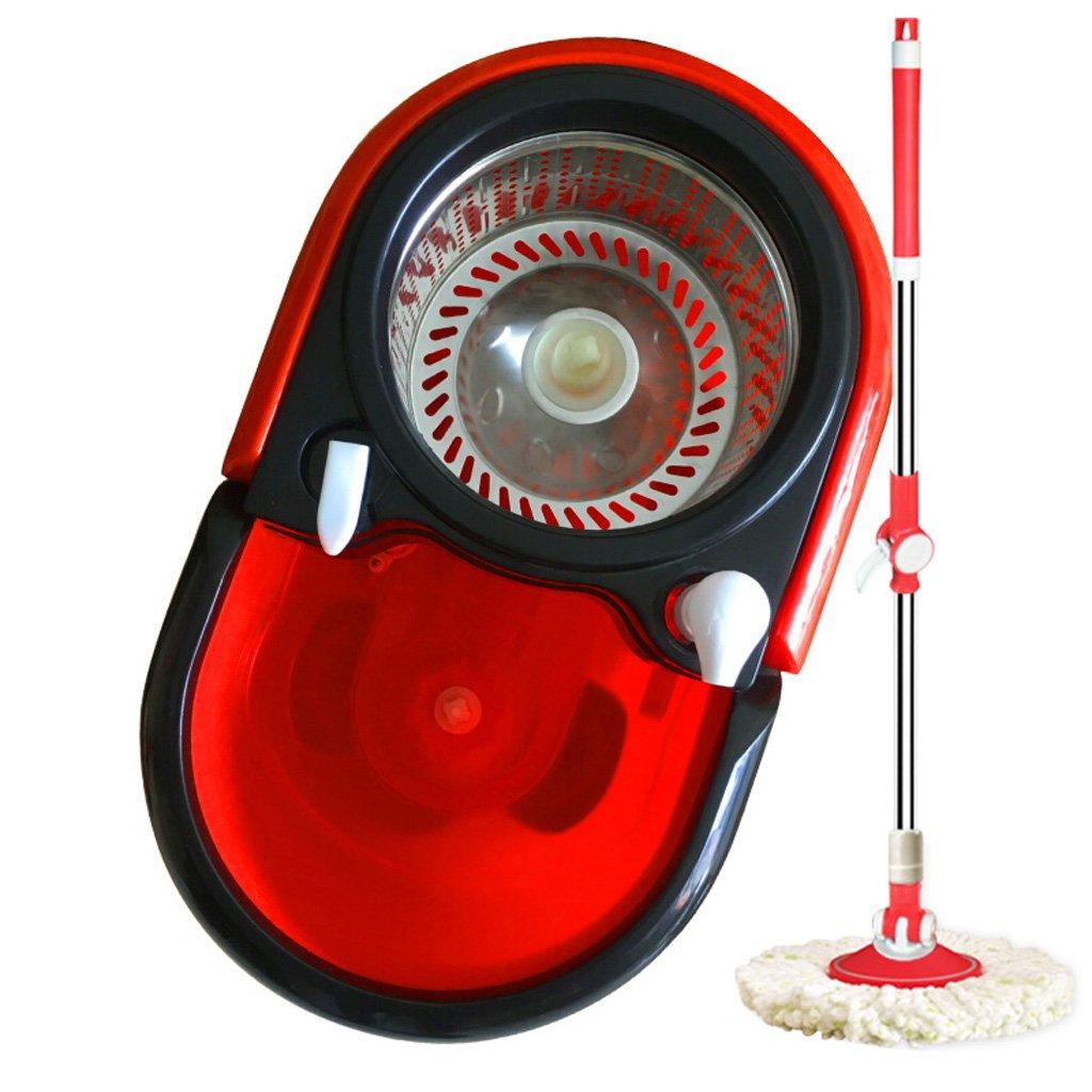 ハンズフリーハンドウォッシング、ダブルドライブロータリーモップバケツ、レッドバケット、マルチプルモップヘッド (サイズ さいず : 2 mop heads) B07FZ5VFXX  2 mop heads