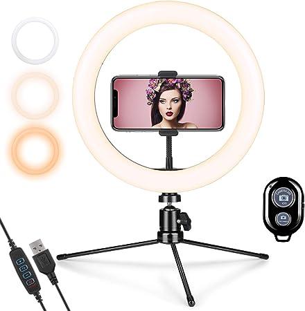 Gemwon Ringlicht Mit Stativ Handy 10 Zoll Led Selfie Kamera
