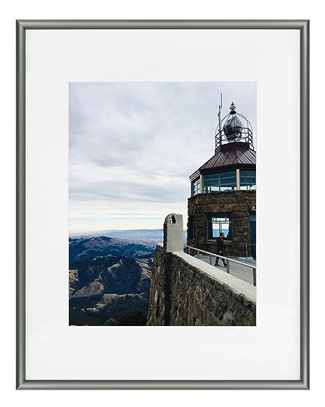 Frametory - Marco de Aluminio, Color Gris Oscuro y Marfil, para ...