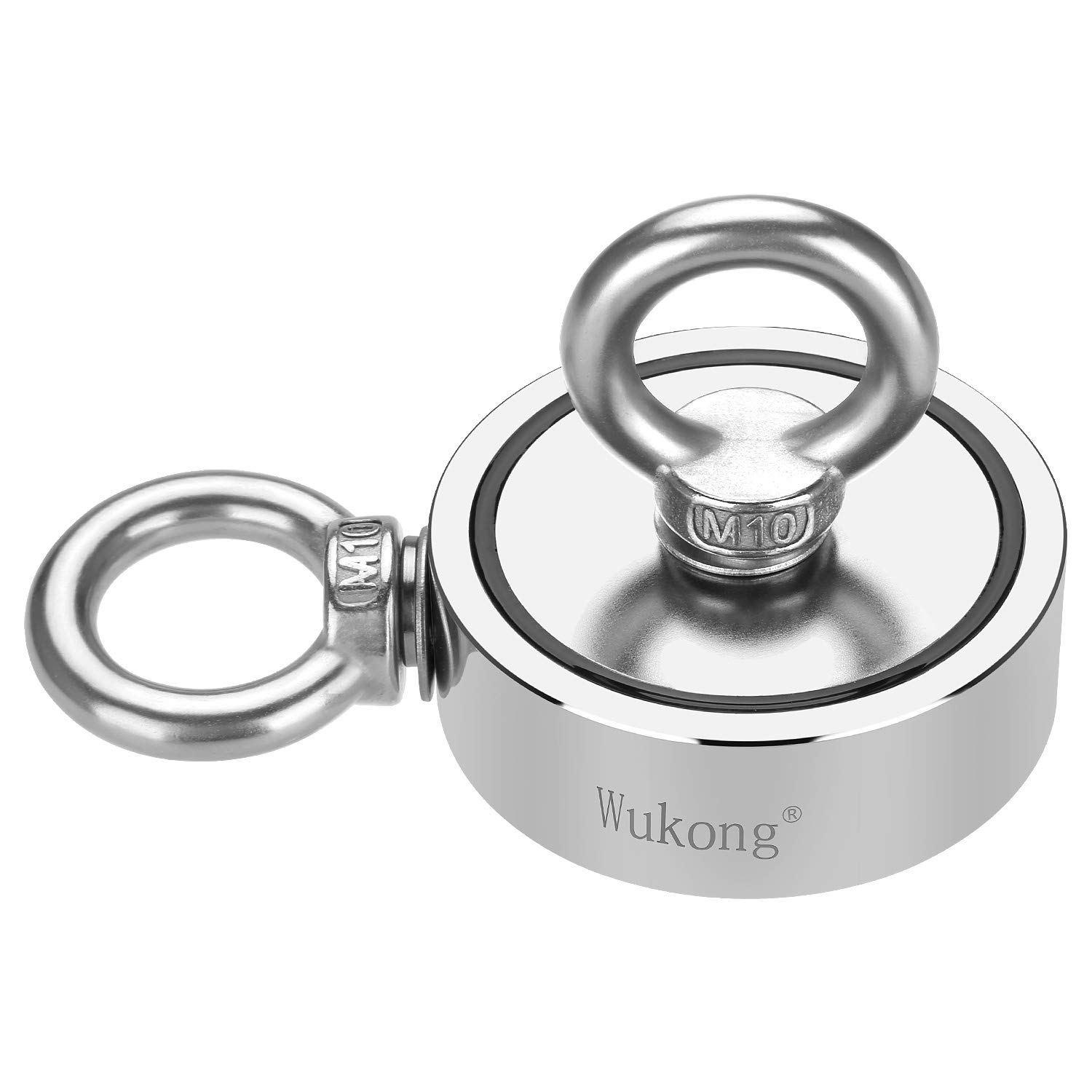 Fishing Magnet with 66ft Rope & Glove, Wukong 760LB Pulling Force Super Strong Neodymium Magnet with Heavy Duty Rope & Carabiner for Magnet Fishing and Retrieving in River - 67mm Diameter by Wukong (Image #4)