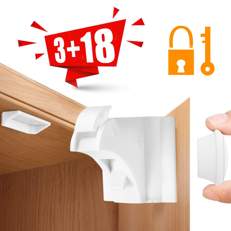 6 St/ück Kindersicherung K/üchenschublade Riegel Babysicherheits Schublade keine Schrauben 3m Kleber einfache Installation sperren
