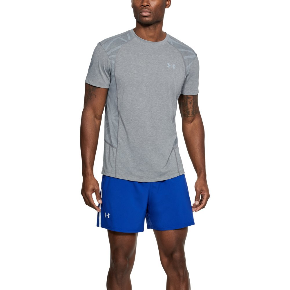 Under Armour Men's Swyft Short Sleeve Shirt, Steel