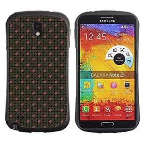 DesignCase Premium TPU / ABS Hybrid Back Case Cover Samsung Galaxy Note 3 III ( clover petals )