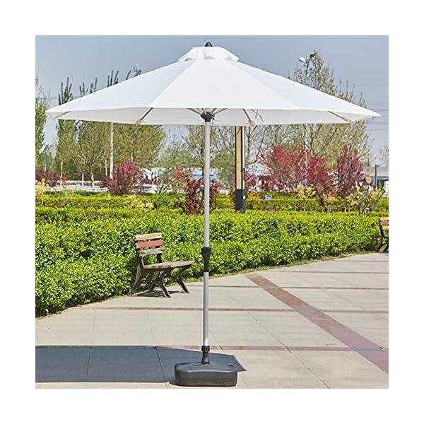 MENG Ombrellone in Alluminio 2.5 M Ombrellone Esterno Protezione UV Ombrellone Rotondo per Ombrellone da Spiaggia… 6 spesavip