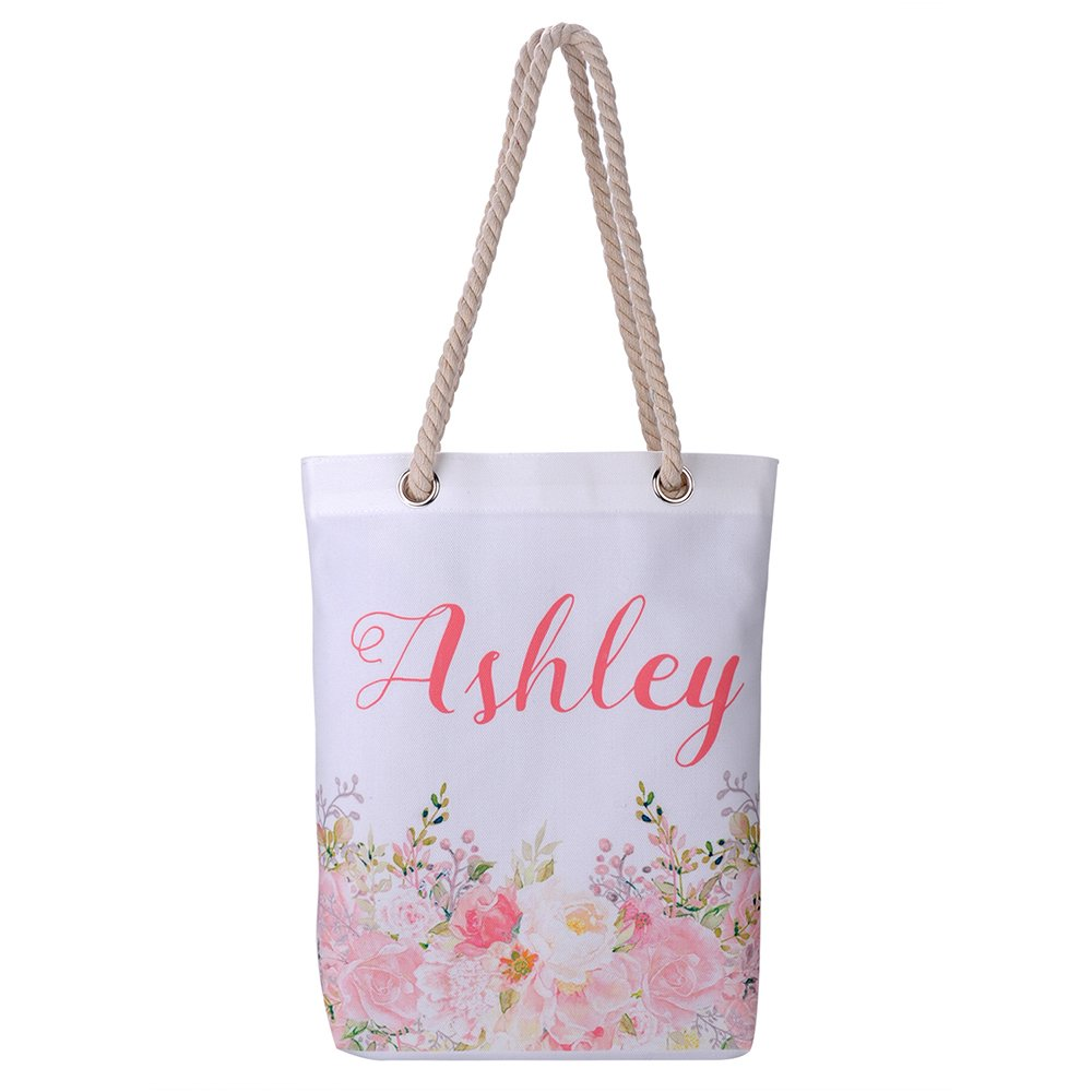 Personalized 16oz Tote Bag, Custom Bridal Hen Party Bag, Bridesmaid Gift Bag, Reusable Canvas Tote Bag