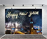 Leyiyi 6x4ft Photography Backgroud Happy New Year Backdrop Hamburg Landmark Colbrandt Bridge Elbe Firecrackers Germany Night View Bokeh Boat Lights Carnival Photo Portrait Vinyl Studio Video Prop