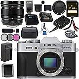 Fujifilm X-T20 Mirrorless Digital Camera (Silver) 16542359 XF 16mm f/1.4 R WR Lens 16463670 Bundle