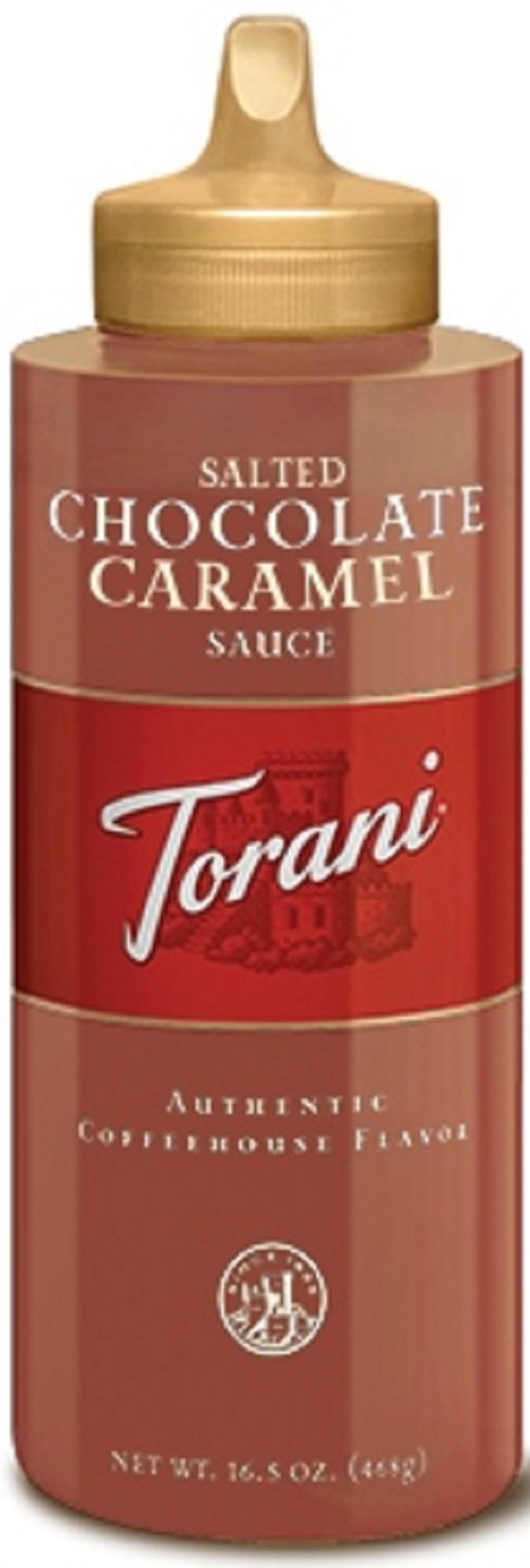 Torani Puremade Salted Chocolate Caramel Sauce, 16.5 Ounces